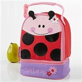 Ladybug Embroidered Lunch Bag by Stephen Joseph - 11301