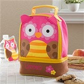 Sweet Owl Embroidered Lunch Bag - 11302