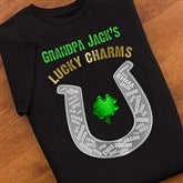 Grandpa's Lucky Charms Black T-Shirt - 11305-BT