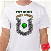 Grandpa's Lucky Charms Personalized Hanes® Adult T-Shirt - 11305-CT