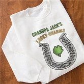 Grandpa's Lucky Charms - White Adult Sweatshirt - 11305-SS