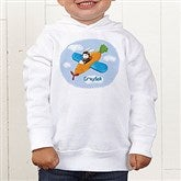 Retro Rabbit Colored Toddler Hooded Sweatshirt - 11308-CTHS