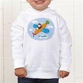 Retro Rabbit Colored Toddler Hooded Sweatshirt - 11308-CTHS