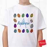 Colorful Eggs Personalized Hanes® Youth T-Shirt - 11309-YCT