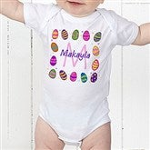 Colorful Eggs Personalized Baby Bodysuit - 11309-CBB
