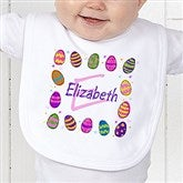Colorful Eggs Personalized Bib - 11309B