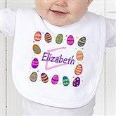 Colorful Eggs Personalized Bib - 11309B