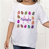 Colorful Eggs Personalized Toddler T-Shirt - 11309-TT