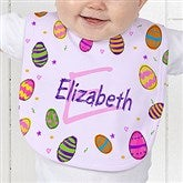 Colorful Eggs Personalized Baby Bib - 11309-B