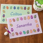 Colorful Eggs Personalized Laminated Placemat - 11312