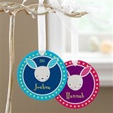 Trendy Bunny Personalized Ornament - 11317