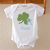 Shamrock Initial for Him Baby Bodysuit - 11321-BB