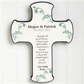 Irish Wedding Blessing Personalized Cross - 11324