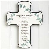 Irish Wedding Blessing Personalized Cross - 11324
