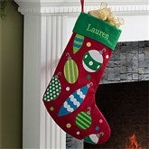 Christmas Ornaments Embroidered Stocking - 11329-O
