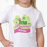Little Irish Princess Personalized Hanes® Youth T-Shirt - 11336-YCT