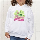 Little Irish Princess Personalized Toddler Hooded Sweatshirt - 11336-CTHS