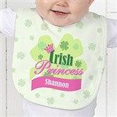 Little Irish Princess Personalized Infant Baby Bib - 11336-B