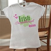 Irish Sweetheart! Personalized Ladies Fitted T-Shirt - 11340-LF