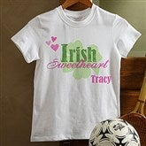 Irish Sweetheart! Personalized Youth T-Shirt - 11340-YT