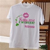 Kiss Me I'm Irish!© Personalized Adult T-Shirt - 11341-AT