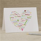 Her Heart of Love Personalized Greeting Card - 11348