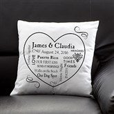Our Life Together Personalized Keepsake Pillow - 11351