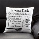 Our Family Personalized Keepsake Pillow - 11352