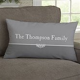 Our Family Personalized Lumbar Throw Pillow - 11352-LB
