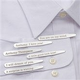 Secret Message Personalized Collar Stays Set of 3