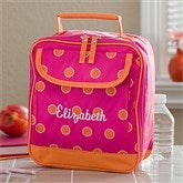 Sorbet Spots Embroidered Lunch Tote - 11395