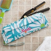 Classic Daisy Embroidered Flat Iron Case - 11397