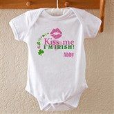 Kiss Me I'm Irish!© Personalized Baby Bodysuit - 11424-BB