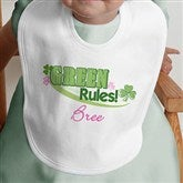 Green Rules!© Personalized Bib - 11425-B