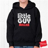 Little Guy Youth Black Hooded Sweatshirt - 11442YS
