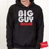 Big Guy Personalized Adult Black Hooded Sweatshirt - 11442S