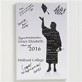 The Graduate Personalized Signature Silhouette Canvas Print- 24