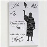 The Graduate Personalized Signature Silhouette Canvas Print- 16