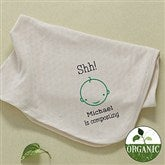 Shh....I'm Composting! Embroidered Organic Blanket - 11455-B