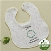 Shh....I'm Composting! Embroidered Organic Baby Bib - 11455-BB