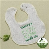 100% All Natural Embroidered Organic Baby Bib - 11459-BB