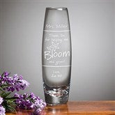 Bloom and Grow Personalized Curved Bud Vase - 11463-N