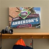 Atlanta Braves MLB Personalized Pub Sign Canvas - 12x18 - 11475-S