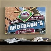Atlanta Braves MLB Personalized Pub Sign Canvas - 16x24 - 11475-M