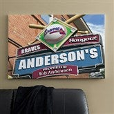 Atlanta Braves MLB Personalized Pub Sign Canvas - 24x36 - 11475-L