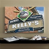 Milwaukee Brewers MLB Personalized Pub Sign Canvas - 16x24 - 11480-M