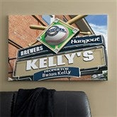 Milwaukee Brewers MLB Personalized Pub Sign Canvas - 24x36 - 11480-L