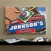 Chicago Cubs MLB Personalized Pub Sign Canvas - 16x24 - 11482-M