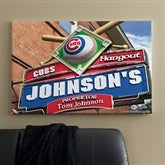 Chicago Cubs MLB Personalized Pub Sign Canvas - 24x36 - 11482-L