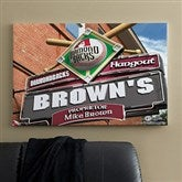 Arizona Diamondbacks MLB Personalized Pub Sign Canvas - 24x36 - 11483-L